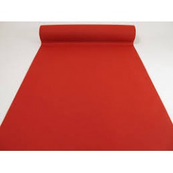 chemin de table non tissé 4.80m x 0.40m rouge